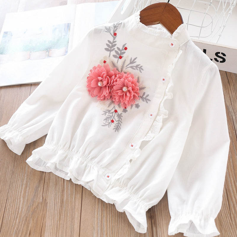 Image 3 - 2020 Spring Girls Three dimensional Pearl Flower Flower Edge 