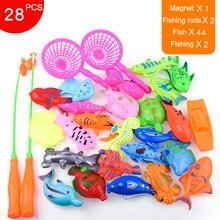 Набор высокомагнитных рыболовных игрушек для детей, рыболовные игры, уличные игрушки, удочка, крючок, рыбы с надувным бассейном, KTC 66