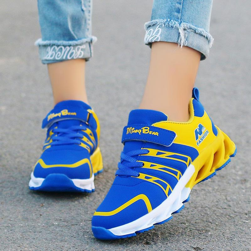 Children Sport Shoes Boys Girls Children Good Quality Casual Shoes Sneakers Black Red Color Comfortable Kids Flats Shoes