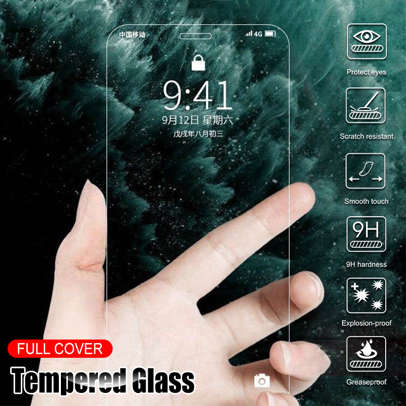 Screen Protector Tempered Glass For iPhone 12 Pro Max 11 Pro XS Max XR X  Protective Glass For iPhone SE 2020 6 6S 8 7 Plus 5S 5