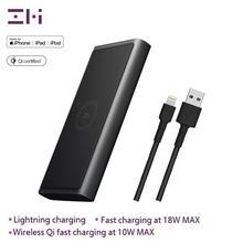 ZMI WPB100, 10000 мА/ч, беспроводной внешний аккумулятор для MFi, для Apple, для зарядки Lightning, двойной USB-C, 18 Вт, Макс., 10 Вт, Макс., Qi сертификат