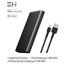 Zmi wpb100 10000 mah banco de potência sem fio para mfi para apple para relâmpago carregamento duplo USB-C de 18 w max 10 w max qi certificado