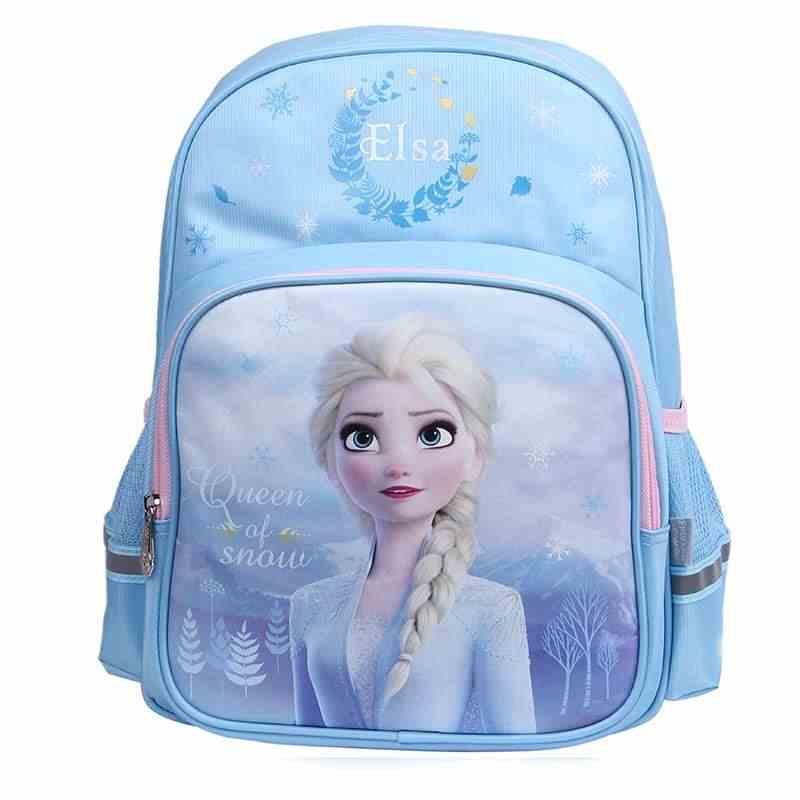 소녀를위한 디즈니 냉동 학교 가방 Elsa 십대 소녀 Grade1-2 대형 capapcity 라이트 초등학교 배낭 mochila escolar