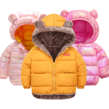 LZH Baby Girls Jacket 2020 Autumn Winter Jacket For Girls Coat Kids Warm Hooded Outerwear Coat For Boys Jacket Children Clothes