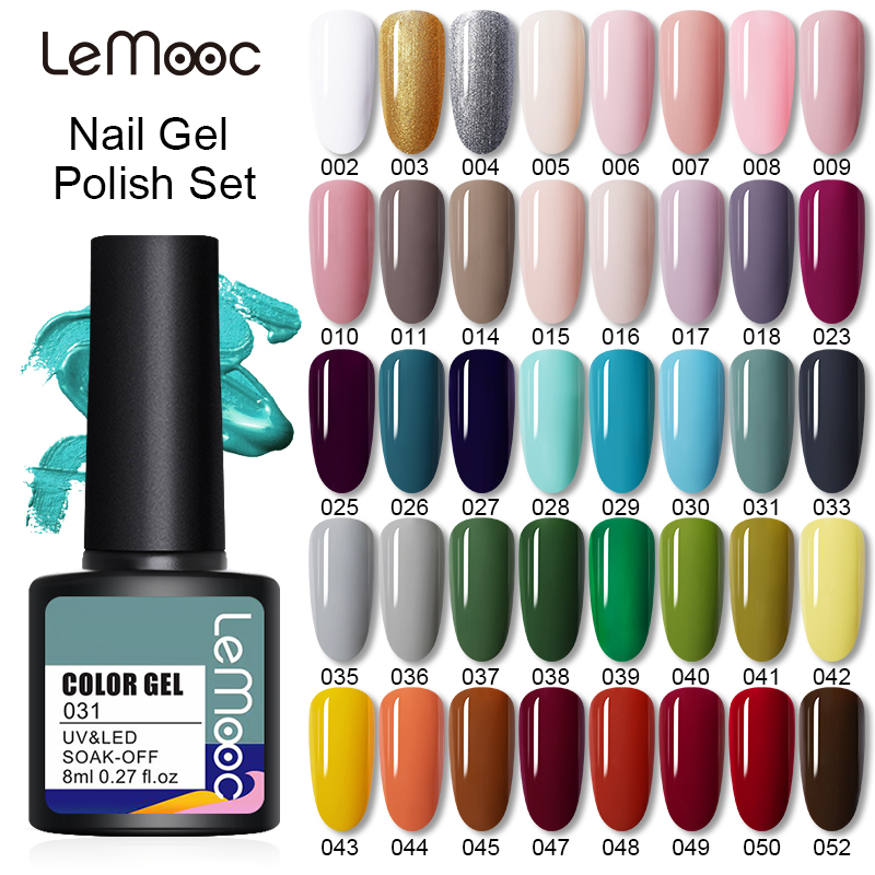 Набор гель-лаков LEMOOC для маникюра, набор гелей для ногтей, 5/10 шт.