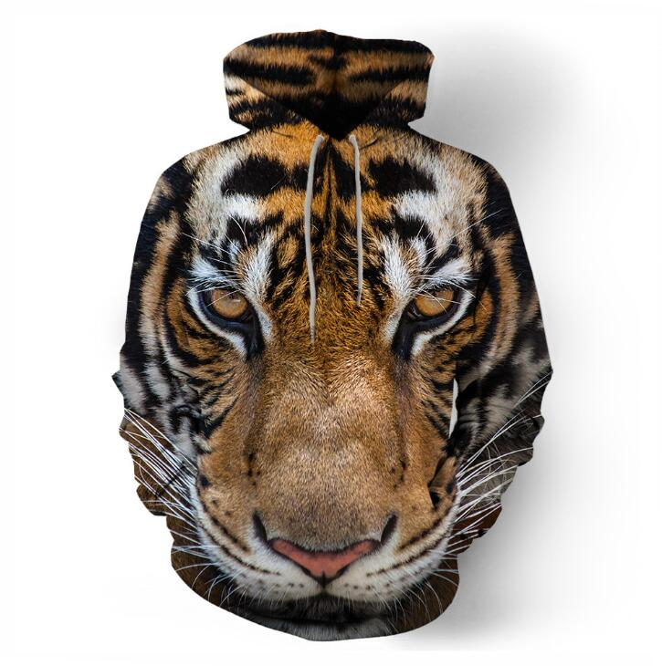 High Quality Fashion Popular 3D Printed Tiger Hoodies For Men Discount Stylish Casual Free Shipping