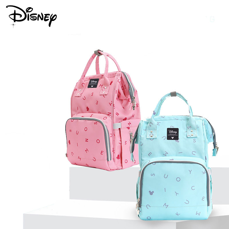 Disney Mickey Baby Usb Diaper Bag Fashion Large Capacity Mummy Maternity Bag Multi-function Mummy Travel Bag Stroller Nappy Bag