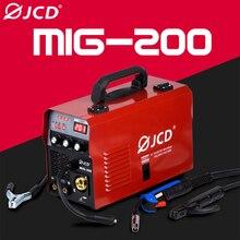 JCD 220V Mig Welder 200/160A Arc Welder Smart IGBT MMA Stick DC Inverter with Digital LCD Display for Beginner Welding Machine