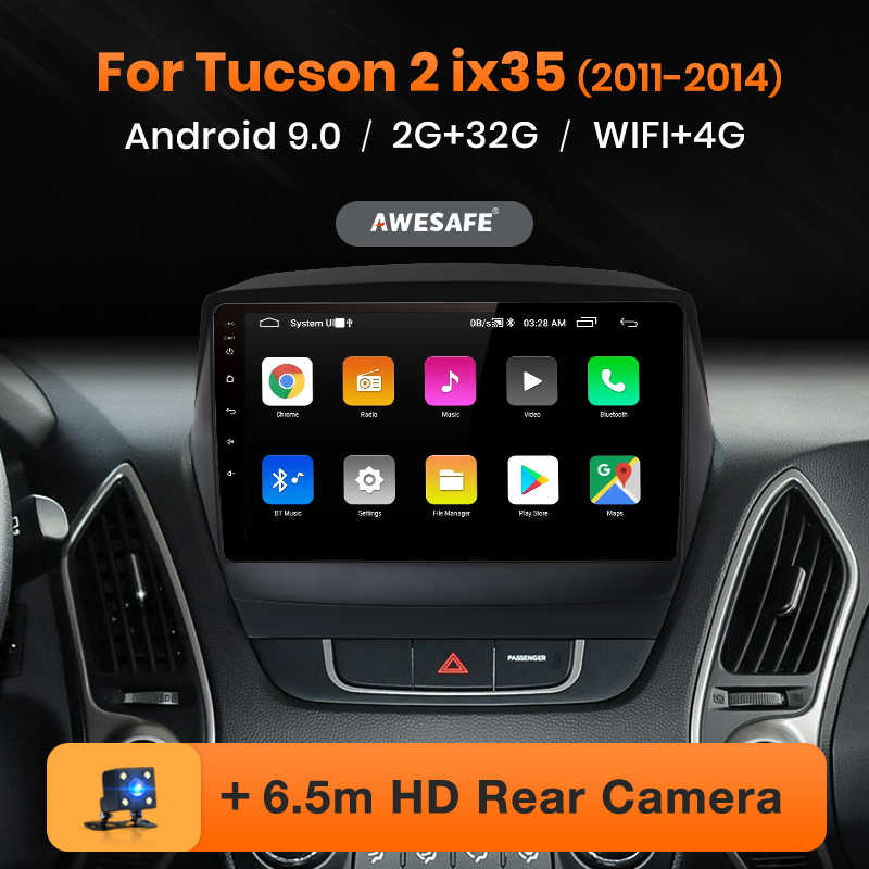 AWESAFE PX9 per Hyundai IX35 1 2 Tucson 2 LM 2011-2014 Auto Radio Multimedia video player GPS No 2 din Android 10 2GB + 32GB