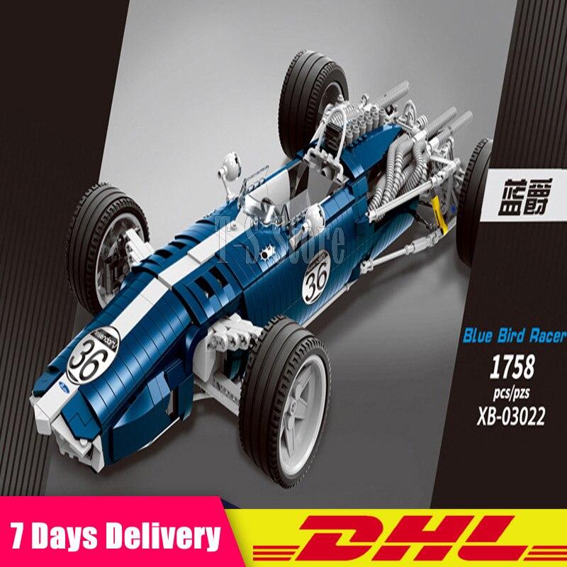 XINGBAO 03022 Technic voiture jouets le bleu Sport vitesse voiture ensemble blocs de construction briques assemblage voiture modèle enfants noël jouets cadeaux