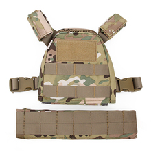 Wosport new Mini Airsoft Boy Ren Tactical Vest Molle Xs/s Protective Camouflage For Kids 1000d
