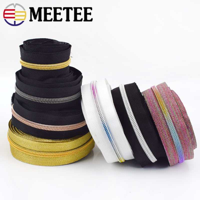 3Meters New 5# Nylon Zipper For Sewing DIY Zip Clothes Open-end Zippers Sports Coat Bag Garment Clothing Accessories