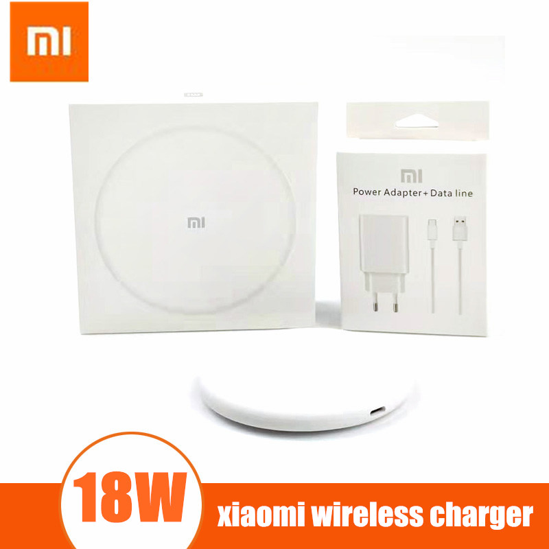 18W xiaomi wireless charger Original qi charge pad to Xiaomi Mi9 MiX 2S Mix 3 for iPhone XS XR XS MAX for samsung galaxy phone