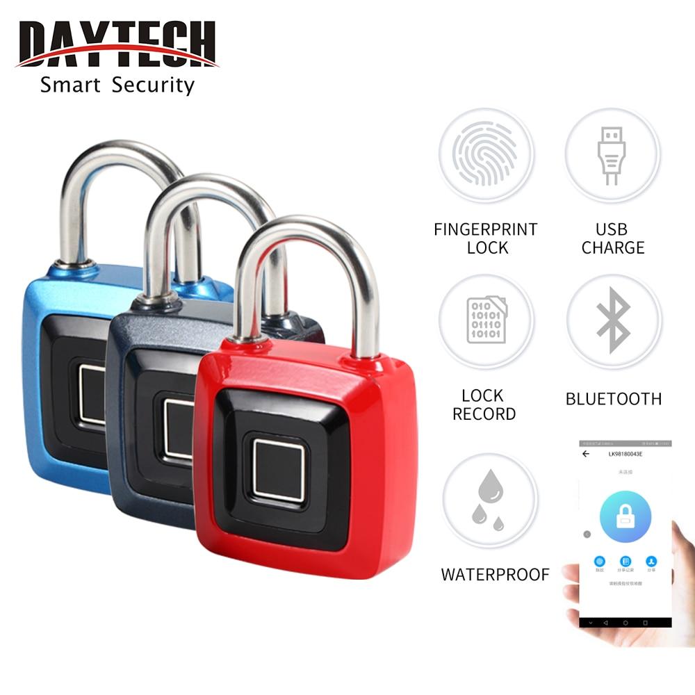 DAYTECH USB Rechargeable Fingerprint Door Lock Anti-Theft Security Keyless Smart Fingerprint Lock
