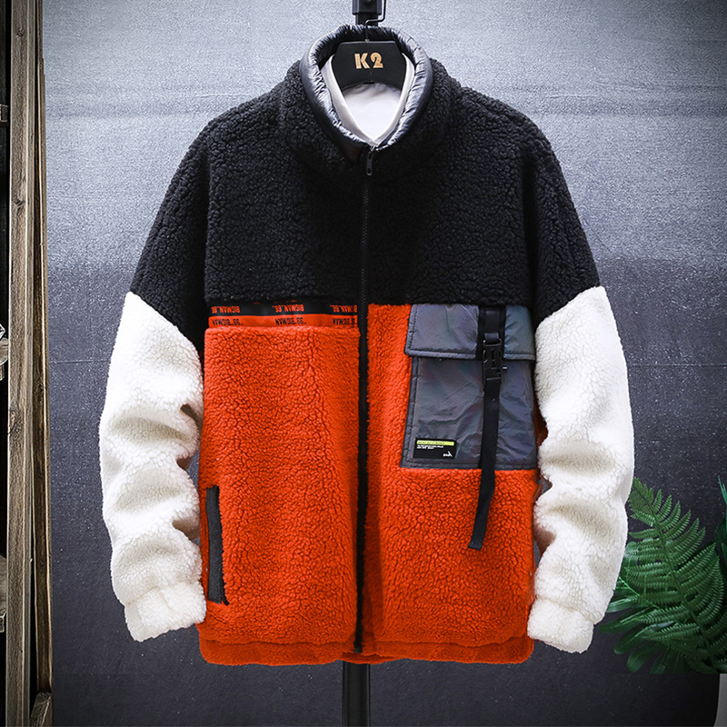 2019 New Casual Loose Lamb Hair Fleece Couple Coat Thick Jacket