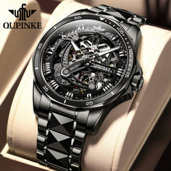 OUPINKE Watch Men Watches Mechanical Automatic for Mens Wrist Luxury Man Waterproof Replica Wristwatches New Multifunction
