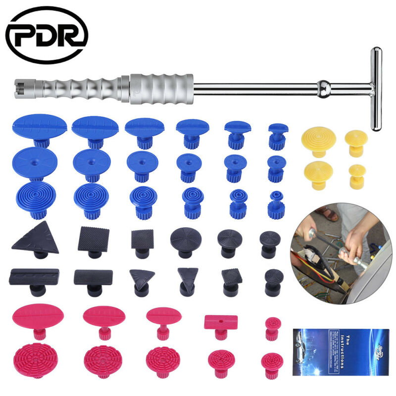 PDR Reverse Hammer Car Auto Repair Tool Set Dent Puller Removing Dents With Glue Sticker For Auto Dents Repair