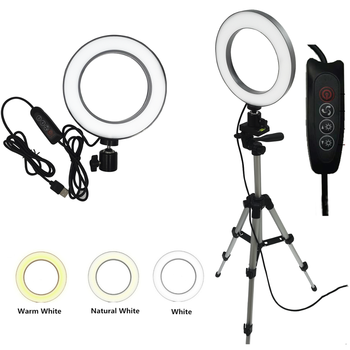 "6"" 10"" LED Selfie Ring Light Studio Photography Photo Lights Fill Light Tripod for Mobile Phone Live Makeup VIPlink for AG 3 1"