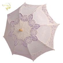 Cotton Embroidery Lace Sunshade Handmade Children Wedding Umbrella Retro Floral Lace Umbrella Girls Parasol Wedding Photography