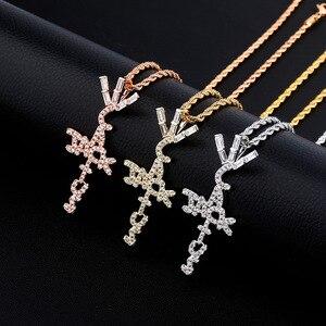 Fashion Bling Cactus Jack Pendant Hip Hop Desinger Necklace Ice Crystal Cubic Zirconia Pendant Jewelry Gift(China)