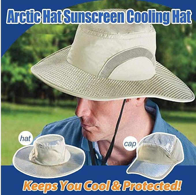 Хит продаж, Солнцезащитная шапка MOONBIFFY с охлаждающим ледяным колпачком для арктической кепки с гидроохлаждением, Арктическая шапка с защит...