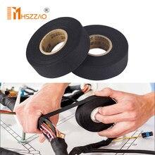 5 pièces automobile câblage harnais tissu bande voiture Anti hochet universel noir flanelle auto-adhésif feutre bande longitudin15m/25M