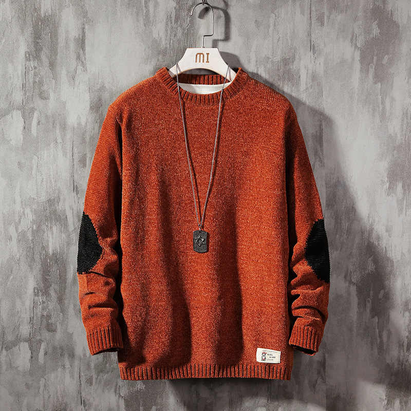 2019 nova camisola masculina mangas compridas outono inverno pulôver de malha o pescoço mais asiático tamanho 5xl
