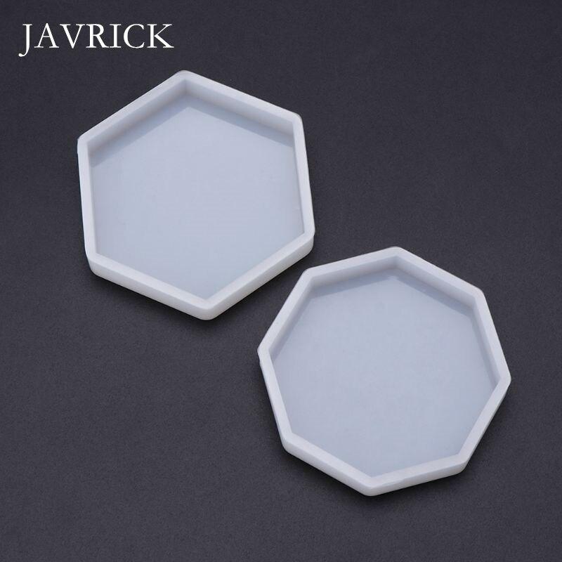 Mirror DIY Epoxy Resin Crafts Jewelry Making Pendant Decoration Geometric Hexagonal Handmade Molds Ornaments Cake Art