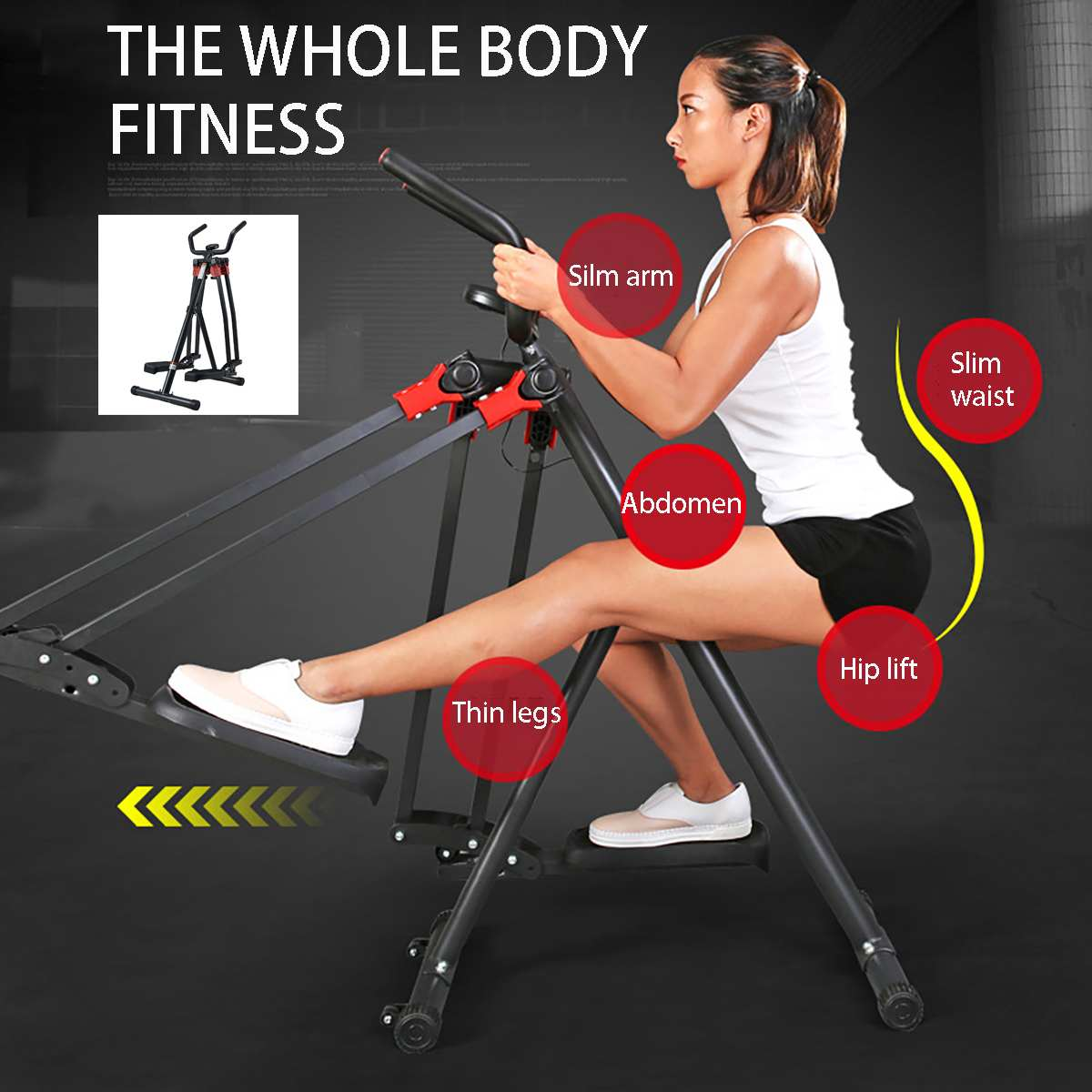 Fitness Workout Exercise Stepper Cardio Machine Indoor Cycling Bikes LCD Display Soft Handle Bar Pedal Bike Home Gym Equipment