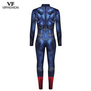 Image 5 - VIP moda yeni Deadpool Cosplay kostümleri erkekler için tulum kas Cosplay süper kahraman Superman baskılı komik Zentai kostümleri