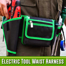 7 in 1 Electric Tool Waist Harness Waist Pouch Bag for Hardware Tools EDF88