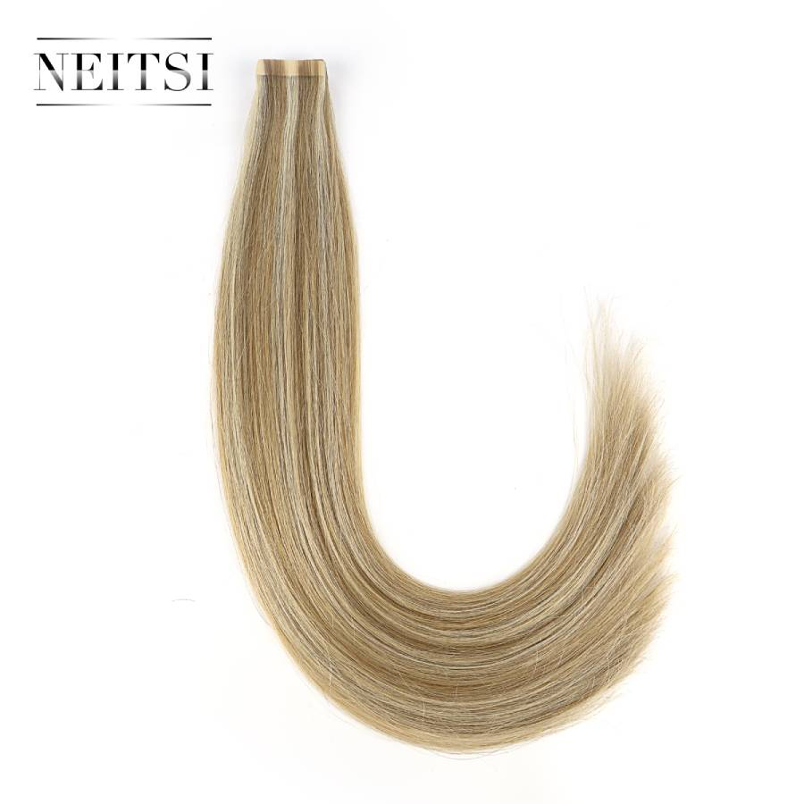 Neitsi Remy Tape In Human Hair Extensions Double Drawn Adhesive 20