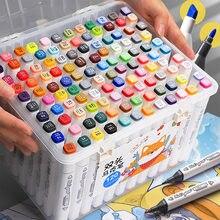 TouchFIVE-Conjunto de rotuladores de doble punta, Set de 30/40/60/80 colores, rotuladores a base de Alcohol oleoso para bocetos artísticos, diseño de animación Manga