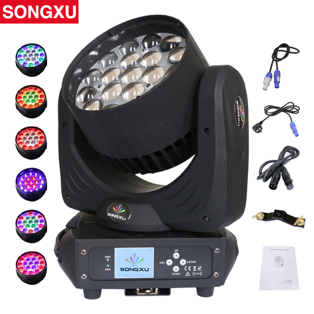 Lyre19X15W RGBW 4in1 LED Moving Head Light Zoom Wash Moving Head Party club DMX DJ Stage Disco Light Stage light SX MH1915A