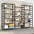 Verstelbare stalen houten boekenplank display plank vloer woonkamer plank eenvoudige multi verdiepingen plank.