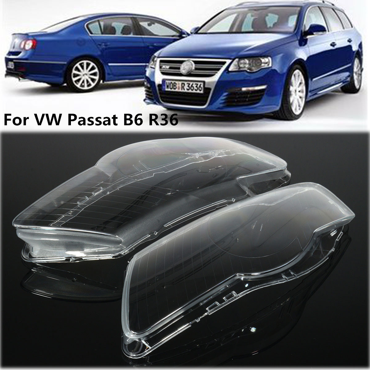 VW Passat 3C2 H7 501 55w Super White Xenon HID Low Dip//LED Side Light Bulbs Set