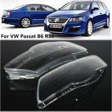 Paire phare de voiture phare étanche lumineux clair couverture lentille pour Volkswagen VW Passat B6 bi xénon phares R36