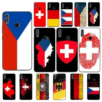 YNDFCNB Czech Republic switzerland germany flag Phone Case For Huawei Honor 8X 8A 9 10 20 Lite 30Pro 7C 7A 10i 20i image