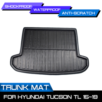 Rear Trunk Cover Floor Carpet Matt For Hyundai Tucson TL 2019 2018 2017 2016 2015 Car Tray Boot Liner Cargo Mat Boot Liner Mud image