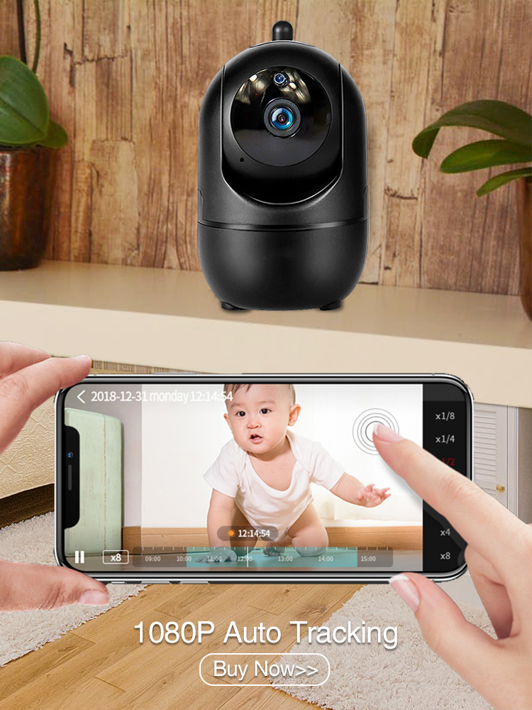 Baby Monitor Nanny Cam Cctv-Camera Wifi-Video Cry Alarm Night-Vision Surveillance 2MP