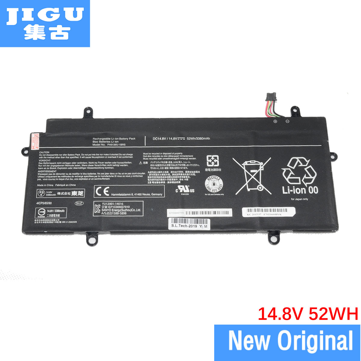 JIGU PA5136U-1BRS Original Laptop Battery For Toshiba For Portege Z30-C Z30 Z30-AK03S Z30-AK04S 15.2V 52WH