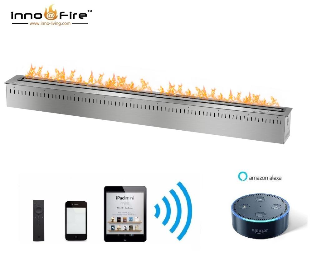 On Sale 1.5M 60 Inch Automatic Fire Bio Wifi & Remote Control Fireplace Indoor Use