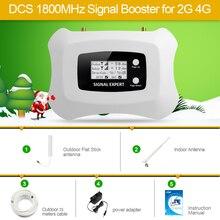 2020 nova atualização display lcd freqüência global 2g 4g lte dcs 1800mhz repetidor de sinal móvel/amplificador de impulsionador sinal para 2g4g kit