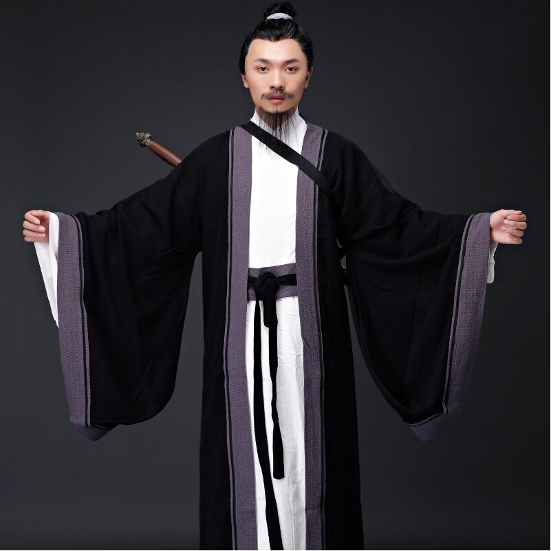 Ancient Chinese Hanfu Taoist Priest Men Clothing 3