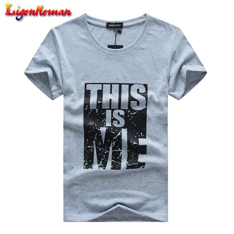 Men Short Sleeve Slim Fit O-Neck T-shirt Men Large size S-5XL Men Cotton T Shirt Print T-Shirt Men T shirt Homme Fitness tshirt