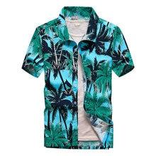 Beach Hawaiian Shirts Men Clothes 2019 Summer Fashion camisa masculina Printed Short Sleeve Button Down Mens