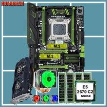 HUANANZHI X79 placa base CPU RAM Combo Intel Xeon CPU E5 2670 6 tubos enfriador de CPU 32G RAM 4*8G REG ECC tarjeta de vídeo GTX750TI 2G