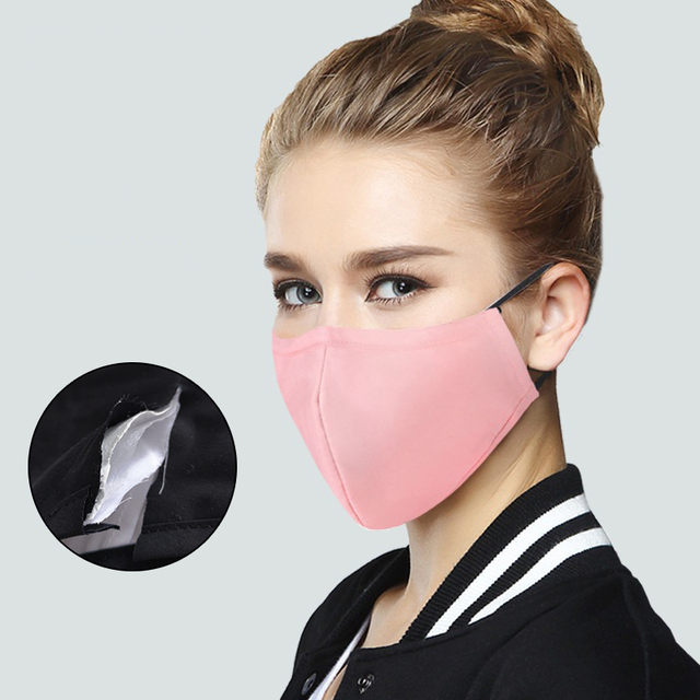 Dustproof  Masks Cotton Fabric Face Mask With Carbon Filter Mouth-muffle Mask Washable Reusable Korean Pop 2
