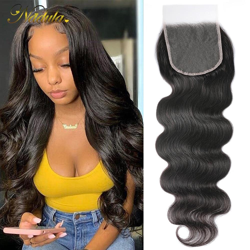Nadula Hair 5x5 HD Lace Closure  Body Wave Hair Lace Closure 12-20INCH  Closure Pre plucked Swiss Lace 1