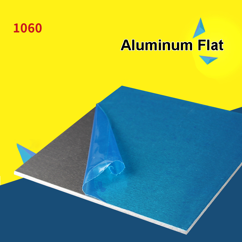 1pcs 1060 Aluminum Flat Flat Plate Sheet 0.2/0.5/1/2/3/4/5/6/8/10mm Thickness Machinery Parts 300mm*300mm